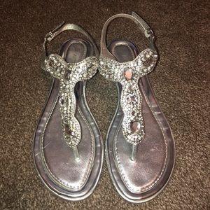 Antonio Melani - silver sandals. Worn twice.
